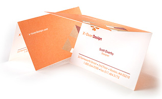 Potrait Folded Business Card