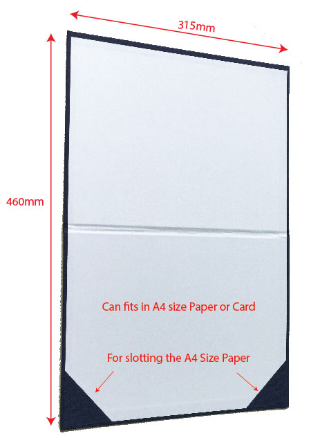 Certificate Holder Size