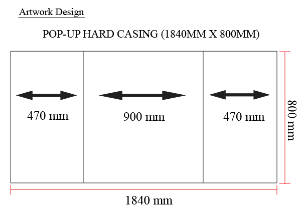 pop up hard casing specification
