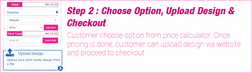 Step 2 - Choose Option and checkout