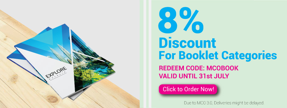 8% Discounts for Booklet Categories