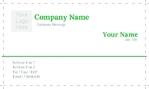 business card  single side (Landscape)