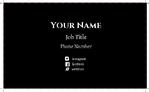 business card  double side (Landscape)