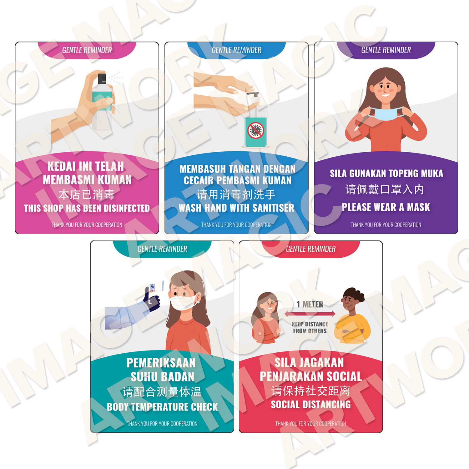 Prevention Guidelines Stickers