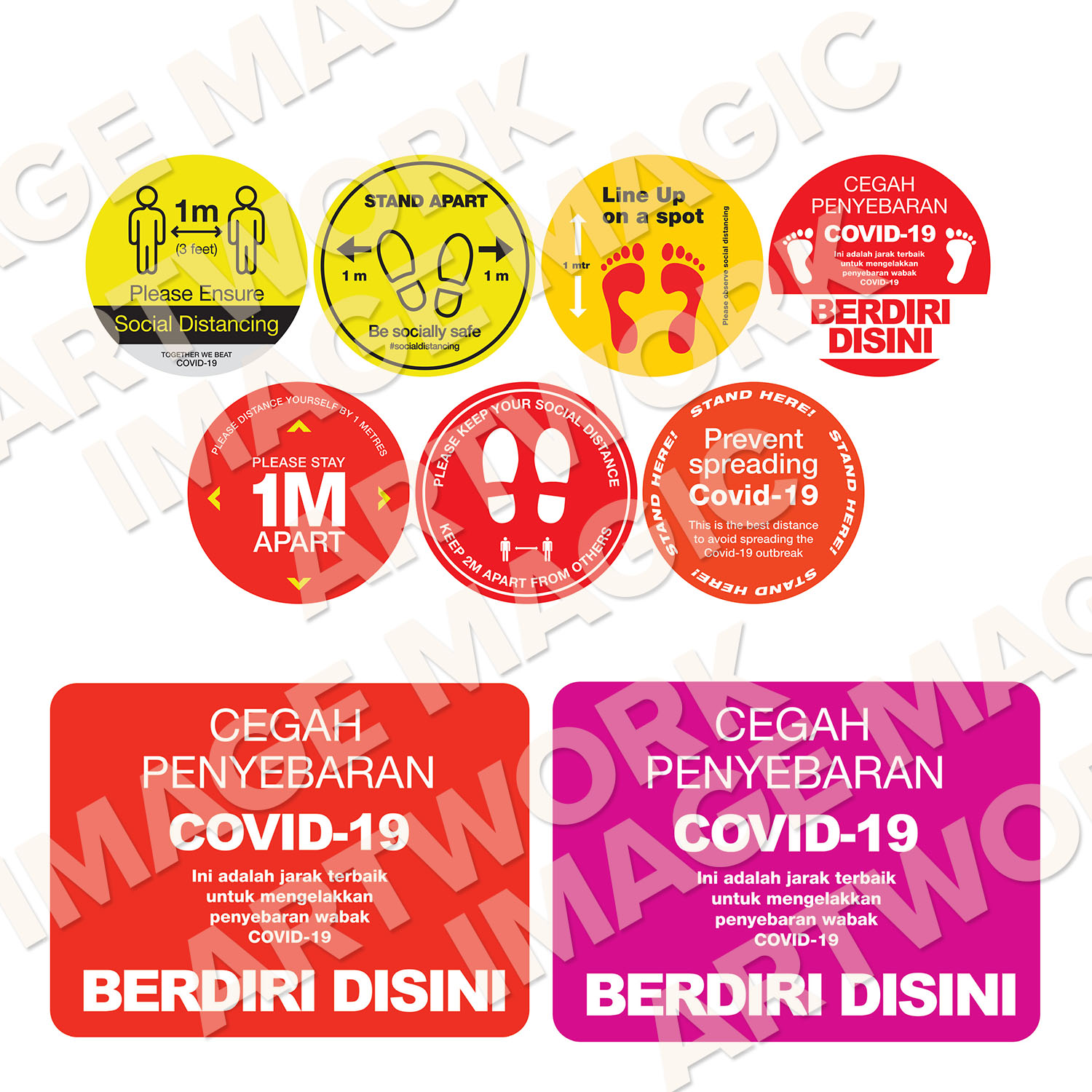 All in one covid sticker
