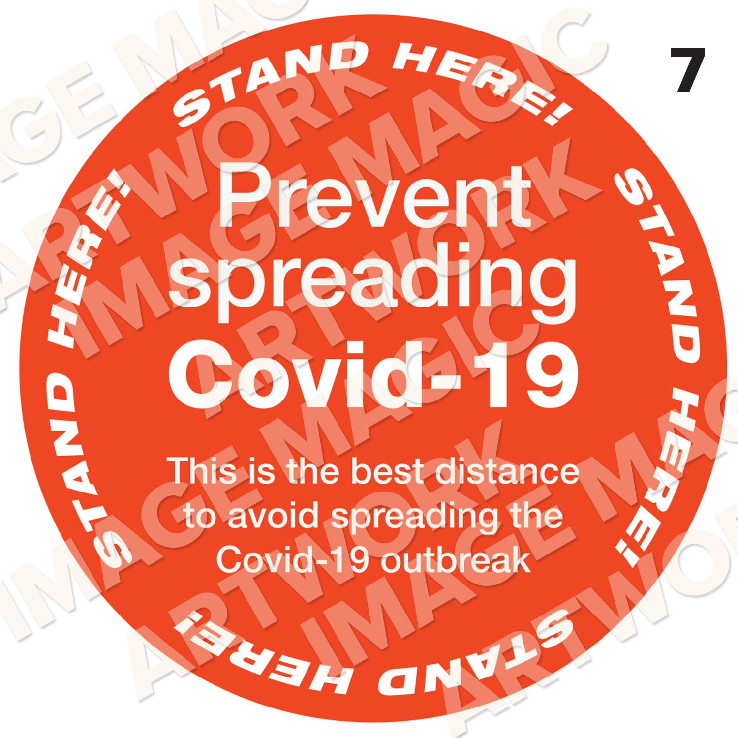 Covid Prevention Sticker 7