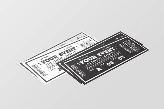 event ticket sample