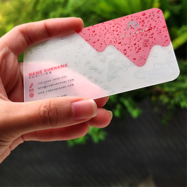 Frosted Business Card 2