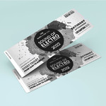 Event Ticket Black White Sample 3
