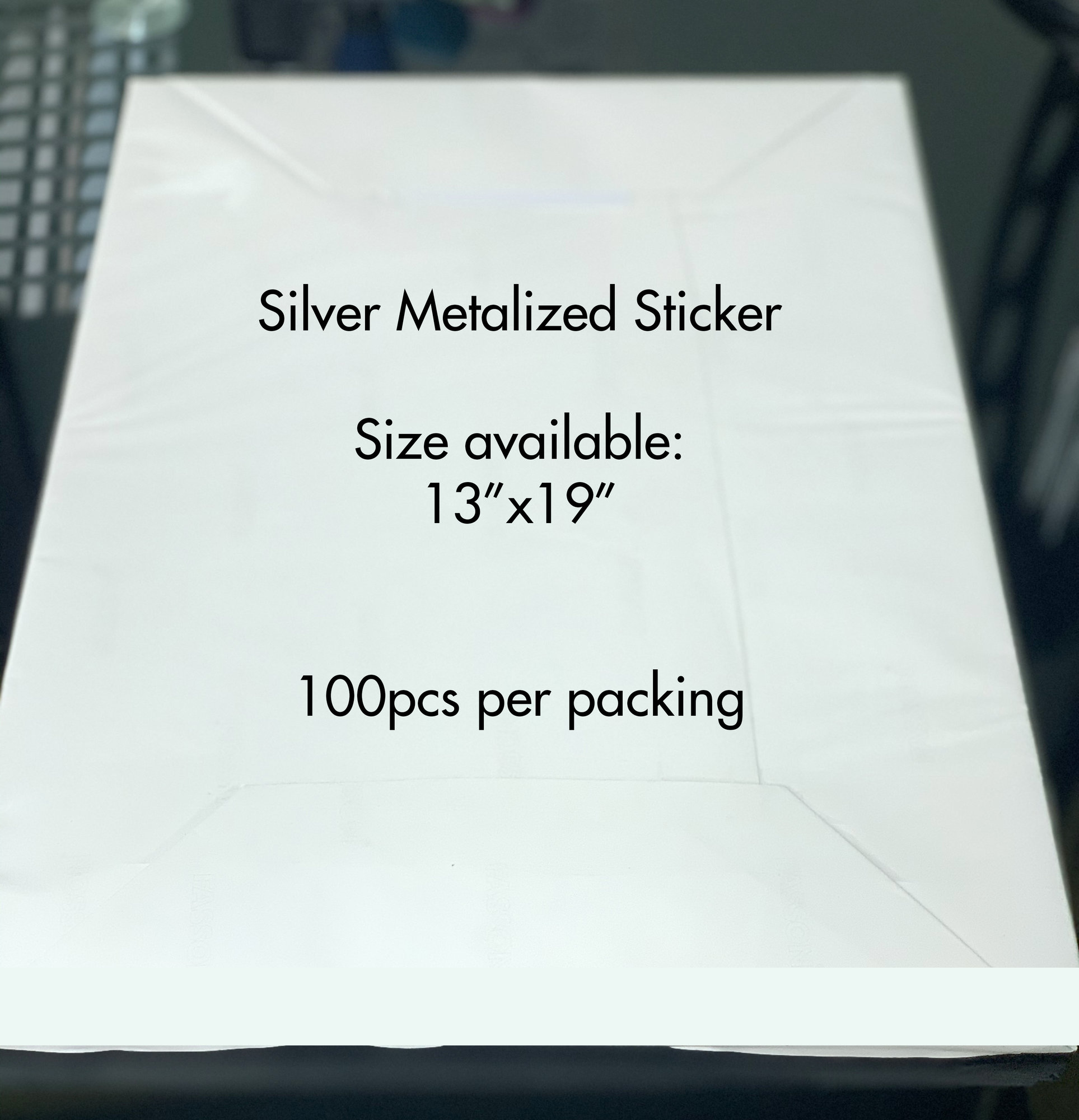 Silver Metalic Sticker